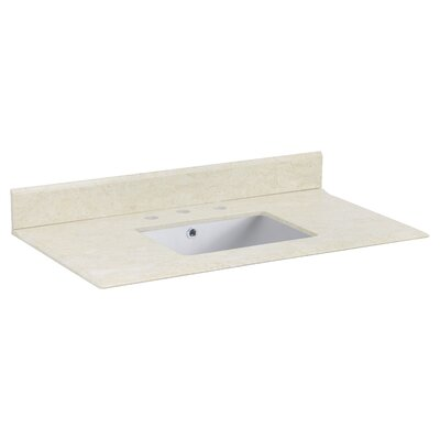 Juliet Marble 36 Single Bathroom Vanity Top Top Finish: White