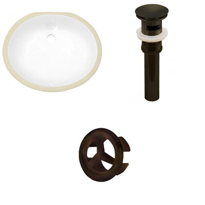 CSA Ceramic Oval Undermount Bathroom Sink with Overflow Drain Finish: Oil Rubbed Bronze