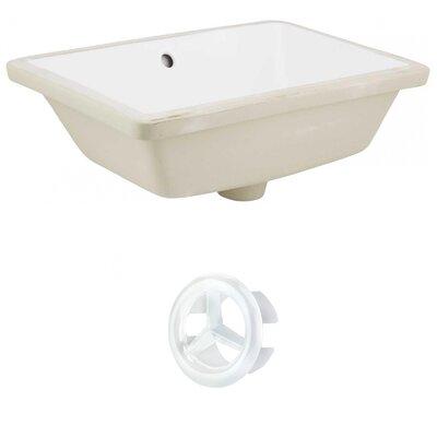 Ceramic Rectangular Undermount Bathroom Sink with Overflow Drain Finish: White, Sink Finish: White