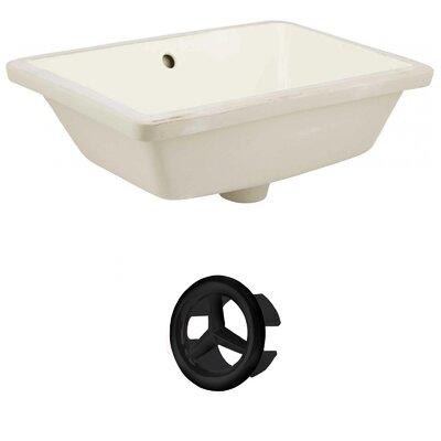 Ceramic Rectangular Undermount Bathroom Sink with Overflow Drain Finish: Black, Sink Finish: Biscuit