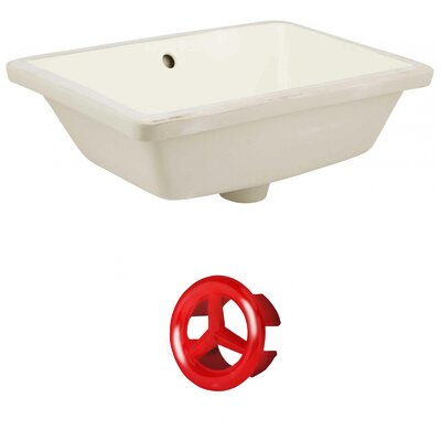 Ceramic Rectangular Undermount Bathroom Sink with Overflow Drain Finish: Red, Sink Finish: Biscuit
