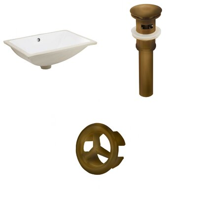 CSA Ceramic Rectangular Undermount Bathroom Sink with Overflow Drain Finish: Oil Rubbed Bronze