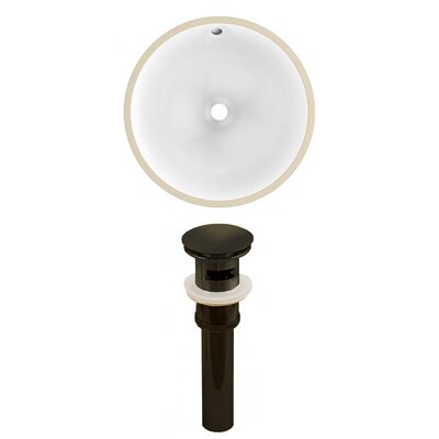 Ceramic Circular Undermount Bathroom Sink with Overflow Drain Finish: Oil Rubbed Bronze, Size: 5.75 H x 16.5 W x 16.5 D