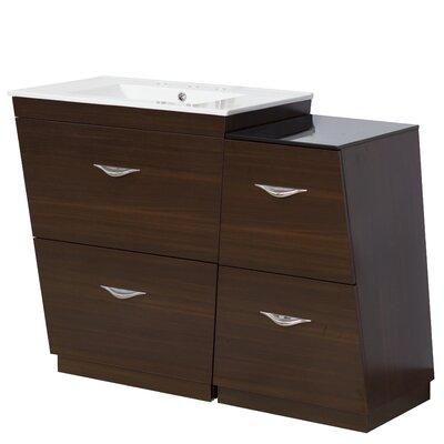 Dudelange 41 Single Bathroom Vanity Set Faucet Mount: 8 Centers