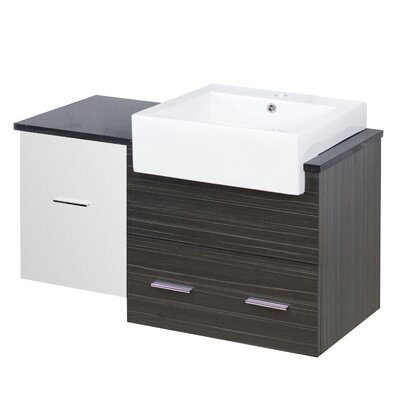 Xena Farmhouse Modern Wall Mount 37 Single Bathroom Vanity Base Base Finish: White/Dawn Gray