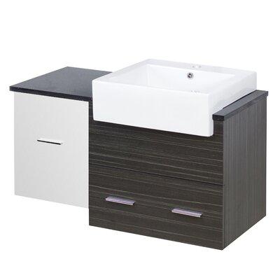 Hindman 37 Wall-Mounted Single Bathroom Vanity Set Faucet Mount: Single Hole