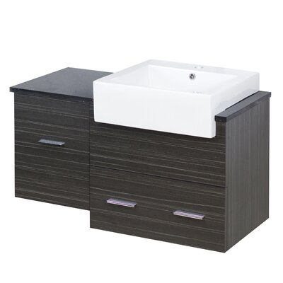 Xena Farmhouse Modern Wall Mount 37 Single Bathroom Vanity Base Base Finish: Dawn Gray