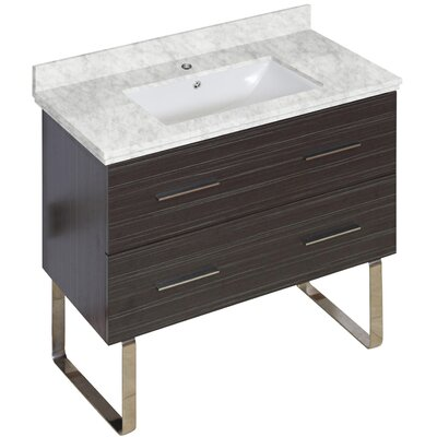 Xena Modern 35 Single Bathroom Vanity Base Base Finish: Dawn Gray
