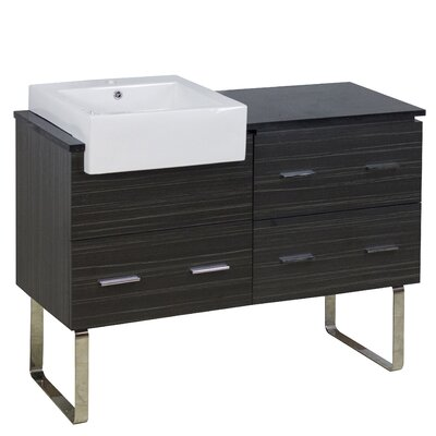 Xena Farmhouse Modern 46 Single Bathroom Vanity Base Base Finish: Dawn Gray