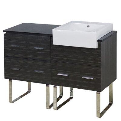 Xena Farmhouse Modern 46 Single Bathroom Vanity Base Base Finish: Dawn Gray