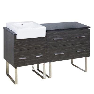 Xena Farmhouse Modern 58 Single Bathroom Vanity Base Base Finish: Dawn Gray