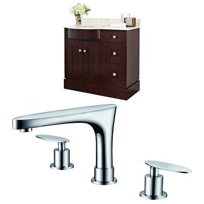 Vangorder 38 Single Bathroom Vanity Set Sink Finish: Biscuit