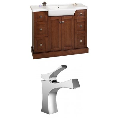 Rizzo 40 Single Bathroom Vanity Set Base Finish: Cherry