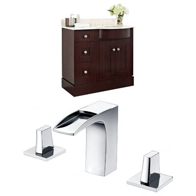 Vangorder 38 Single Bathroom Vanity Set Sink Finish: White