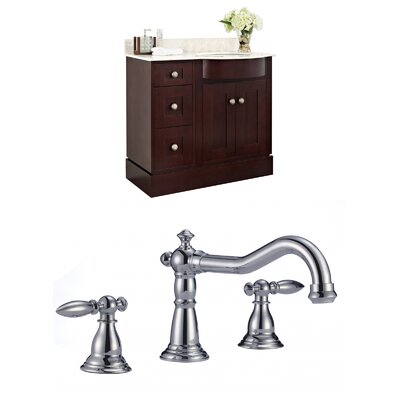 Vangorder 38 Single Bathroom Vanity Set Sink Finish: White