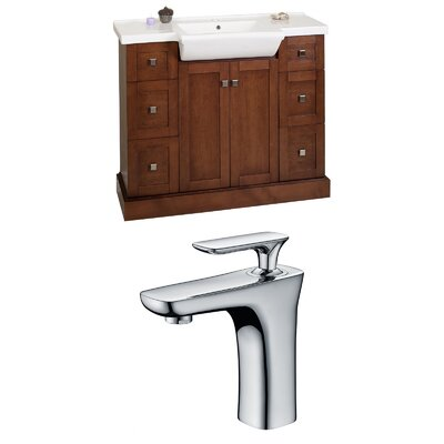 Rizzo 40 Single Bathroom Vanity Set Base Finish: Cherry