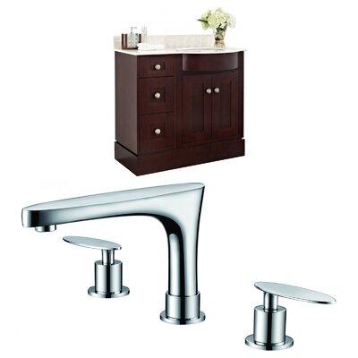 Vangorder 38 Single Bathroom Vanity Set Sink Finish: Biscuit