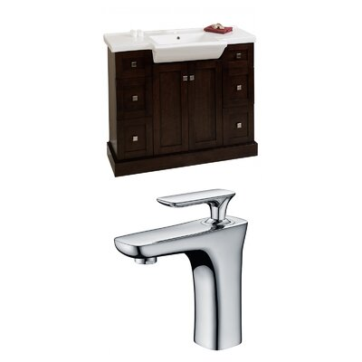Rizzo 40 Single Bathroom Vanity Set Base Finish: Walnut