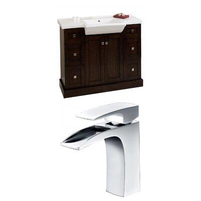 Rizzo 40 Single Bathroom Vanity Set Base Finish: Walnut