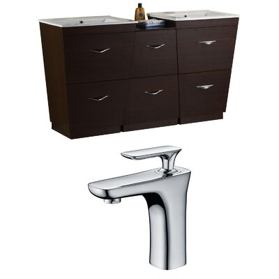 Dudelange 62 Double Bathroom Vanity Set