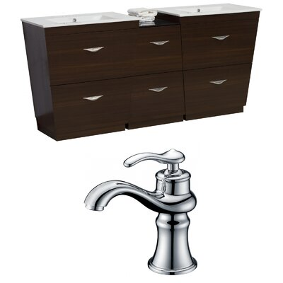 Dudelange 74 Double Bathroom Vanity Set