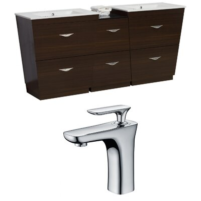 Dudelange 74 Double Bathroom Vanity Set