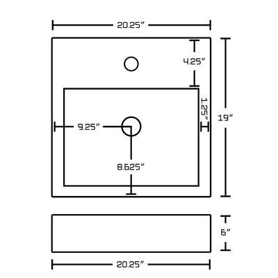Hindman 76 Single Bathroom Vanity Set Faucet Mount: Single Hole
