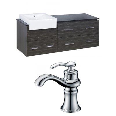Hindman 61 Wall-Mounted Single Bathroom Vanity Set