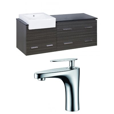 Hindman 61 Wall-Mounted Single Bathroom Vanity Set