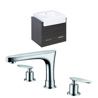 Hindman 25 Wall-Mounted Single Bathroom Vanity Set