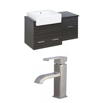 Hindman 37 Wall-Mounted Single Bathroom Vanity Set