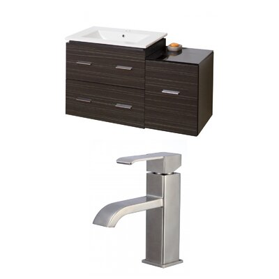 Hinerman 38 Wall-Mounted Single Bathroom Vanity Set
