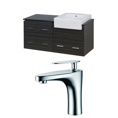 Hindman 49 Wall-Mounted Single Bathroom Vanity Set