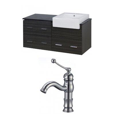 Hindman 49 Wall-Mounted Single Bathroom Vanity Set