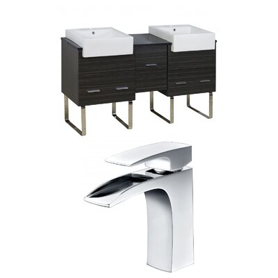 Hindman 60 Double Bathroom Vanity Set