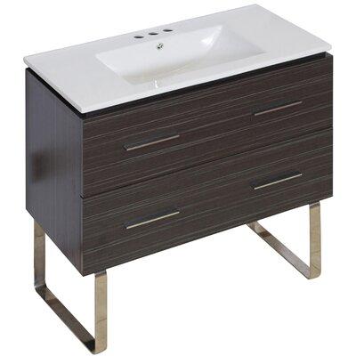 Hinerman 36 Single Bathroom Vanity Set Faucet Mount: 4 Centers