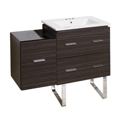 Hinerman 38 Single Bathroom Vanity Set Faucet Mount: 4 Centers