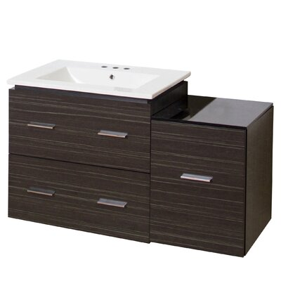 Hinerman 38 Wall-Mounted Single Bathroom Vanity Set Base Finish: Dawn Gray, Faucet Mount: 8 Centers