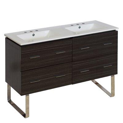 Hinerman 48 Double Bathroom Vanity Set Faucet Mount: 8 Centers