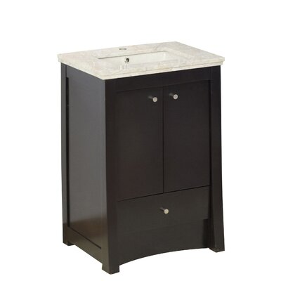 Vangundy 32 Single Bathroom Vanity Set Top Finish: Beige, Sink Finish: Biscuit, Faucet Mount: Single Hole