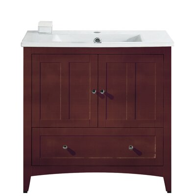 Riordan 36 Single Bathroom Vanity Set Faucet Mount: Single Hole