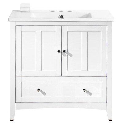 Riordan 36 Single Bathroom Vanity Set Faucet Mount: 4 Centers