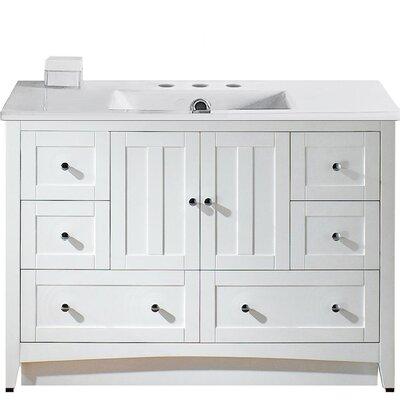 Riordan 48 Single Bathroom Vanity Set Faucet Mount: 8 Centers