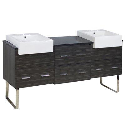 Hindman 74 Double Bathroom Vanity Set Faucet Mount: 8 Centers