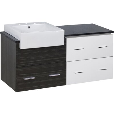 Batton 49 Single Bathroom Vanity Set Base Finish: White/Dawn Gray, Faucet Mount: 8 Centers