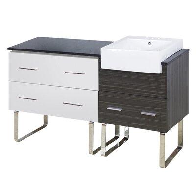 Hindman 61 Single Bathroom Vanity Set Faucet Mount: 4 Centers