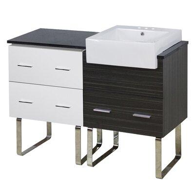 Hindman 49 Single Bathroom Vanity Set Faucet Mount: 4 Centers
