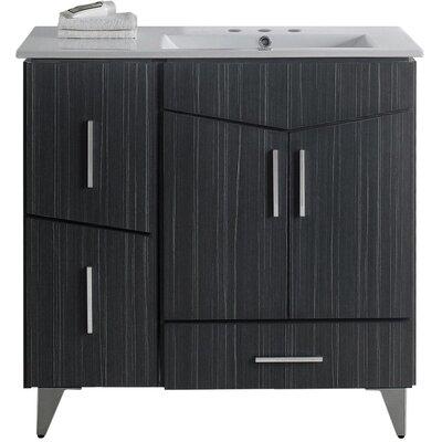 Dunand 36 Single Bathroom Vanity Set Faucet Mount: 4 Centers