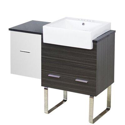Hindman 37 Single Bathroom Vanity Set Faucet Mount: 4 Centers