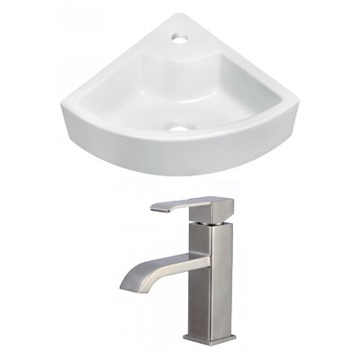 Ceramic 26 Bathroom Sink with Faucet Installation Type: Vessel Sinks